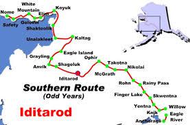 Iditarod trail map