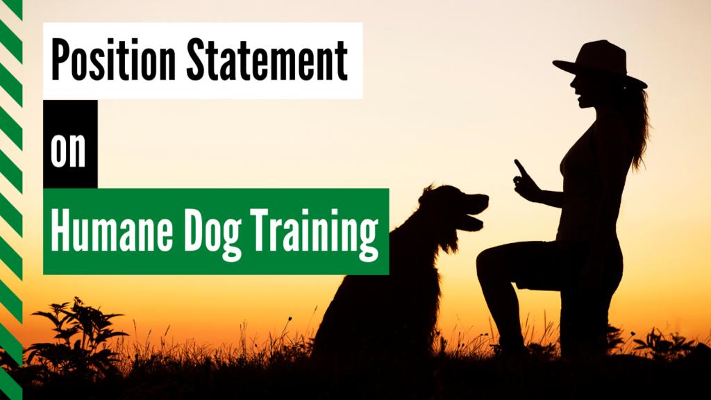 Humane dog training dog works radio